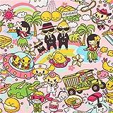 Pinker Hawaii Hula Alien Anime Manga Stoff