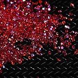 TAOtTAO 3000 Stücke 2 MM DIY Diamant Tisch Konfetti Klarem Kristall Veranstaltungen Party Zubehör (rot)