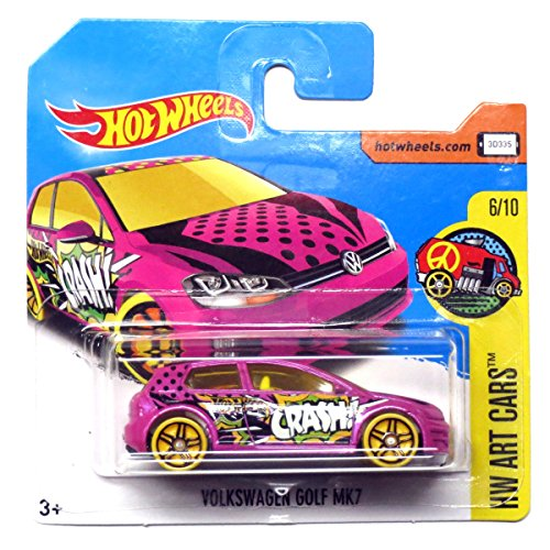 2017 Hot Wheels VOLKSWAGEN GOLF MK7,#111 HW ART CARS N0.# 6/10. Short card
