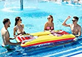 Kenley Inflatable Beer Pong Set - Pool Float Table with Drinks Cooler