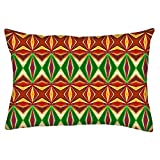 """Snoogg Colorful Pattern Amazed Rectangle Toss Throw Pillow Cushion Cover Decoarative Pillow Case 14 x 22"""""""