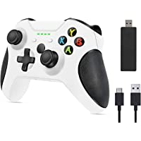 AUFGLO Wireless Controller for Xbox One, PC Gamepad with 2.4G Wireless Adapter, Built-in Dual Vibration, Compatible with…