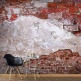 murando - Vlies Fototapete 500x280 cm - Größe Format XXL- Vlies Tapete - Moderne Wanddeko - Design Tapete - Ziegel Ziegelstein f-A-0500-x-b