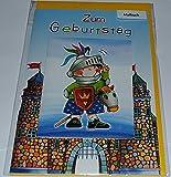 Kindergeburtstagskarte mit Malbuch