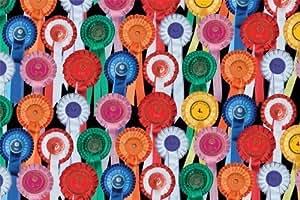CSP - Carta regalo con motivo coccarde equestri per chi ama l'equitazione ed i cavalli
