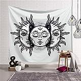 """Tapisserie murale suspendue hippie mystique psychédélique tapisserie lune-soleil, rideau, nappe, couvre-lit ou serviette de plage HYC44, 3 #, 59 """"x 51"""" (150 x 130 cm)"""