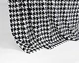 Feinste Mikrofaserdecke Kuscheldecke Tagesdecke, extra dick mit Silk/Cashmere Touch, ca. 150 x 200 cm, schwarz/weiss kariert