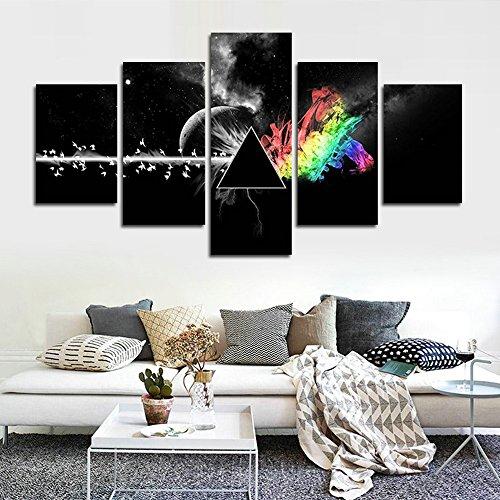 CrmOArt 5 Pedazos Impreso Pink Floyd Pintura de la Lona de la Música