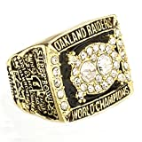 Budazo Golden 1980 Auckland Meisterschaft Ringe für Herren,Größe 57(18.1)