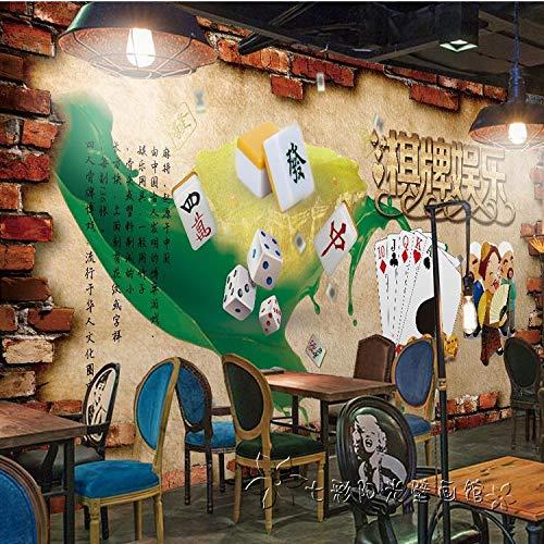 Fototapete Dekor Wallpaper Tapete3D-Traditionellen Mahjong Kultur Große Wandmalereien Schachraum Ktv Bar Unterhaltung Thema Overalls Wallpaper