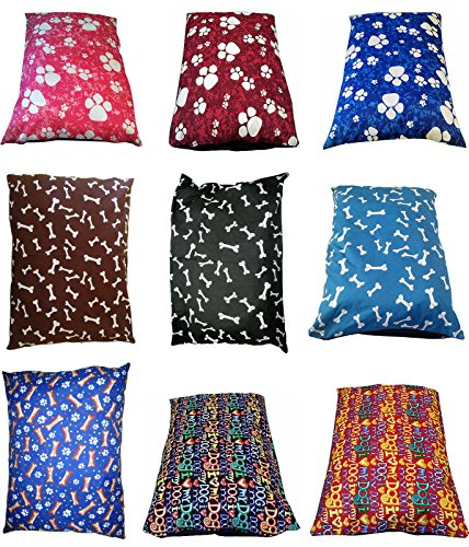 """EXTRA-LARGE Dog Bed Pillow Cover - 56"""" x 37"""" SIZE - Removable ZIP & Washable Cover- X-Large PET CUSHION COVER ONLY- PollyCotton Stuff"""
