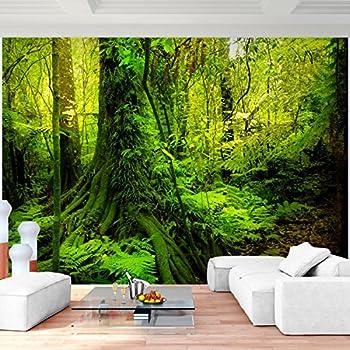 Fototapete Wald Bäume 352 x 250 cm Vlies Wand Tapete Wohnzimmer ...