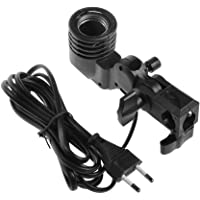 SHOPEE Photography Photo Light Lamp Bulb Single Holder E27 Socket Bracket Studio EU Plug,Black (Pack of 1)