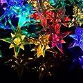 40er LED Lichterkette Stern Weihnachten bunt Sternenlichterkette XMAS Außen von Nipach GmbH