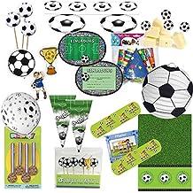 173 piezas, Fiesta * Fútbol * para fiestas de cumpleaños infantil y temática para 6 – 8 invitados con invitaciones bolsas de fiesta Farol Mantel Picker ...