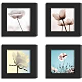 ArtzFolio Wall Photo Frame D315 Black 6x6inch;Set of 4 PCS