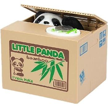 Cisixin Mignon panda volent l'argent boîte tirelire économiser médaille