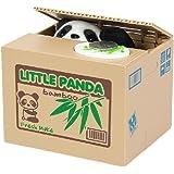Binnan Volent l'argent Boîte Tirelire économiser Médaille, Tirelire Divertissante de Chat Qui Vole Argent (Panda Boîte Bamboo)