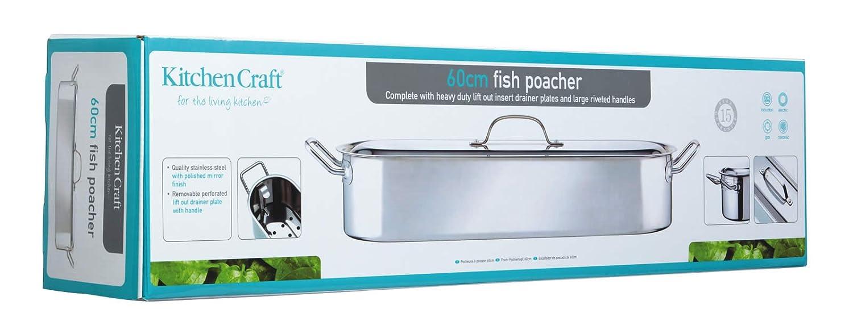 Kitchen Craft Stainless Steel 60cm Fish Poacher: Amazon: Kitchen &  Home