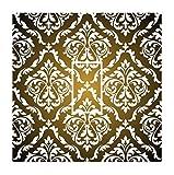 Sticar-it Ltd Verblassen Zu Schwarz Mit Weißen farbig Damast Muster Lichtschalter Sticker vinyl hülle schutzhülle Aufkleber für Jeden Raum
