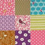 echino Fabrics Rosa und Braunes Wachstuch mit Quadraten von