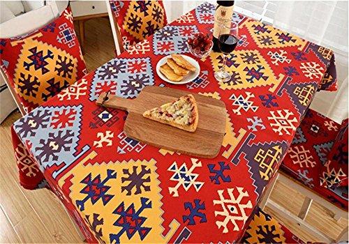 isch Cover Französische Retro dicker folk-custom Tischdecke ländlichen Pastoral Kaffee Tisch Esstisch, 90*140 (Lila Polka Dot Tischdecke)