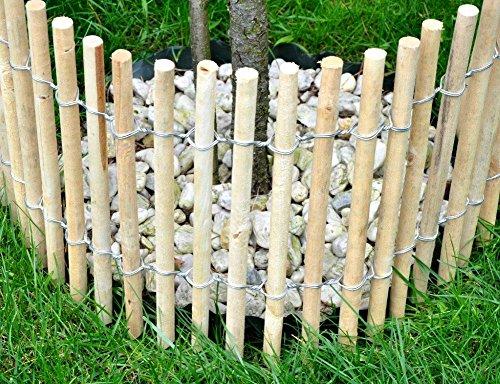 Weidenprofi Beeteinfassung Stakete Kiefer rund 300 x 40 cm, Ø 22 cm, Lattenabstand 2-3 cm