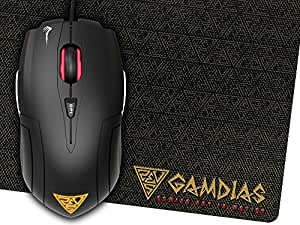 GAMDIAS Demeter E1-3200DPI Gaming Mouse with Mouse Pad