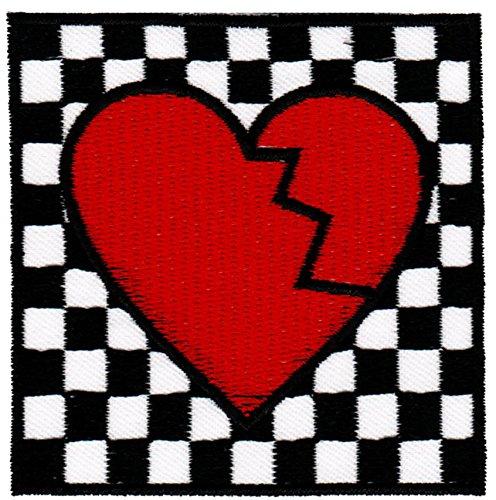(Broken Heart SKA Aufnäher Bügelbild Patch Applikation)