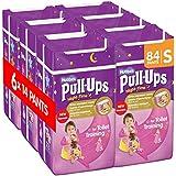 Huggies Pull-Ups Girls Night Time Pants Convenience Pack, Small - 6 Packs (14 Pants Per Pack, 84 Pants Total)