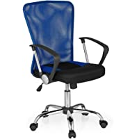 HJH Office 685113 Bürostuhl, Chefsessel Net Star Netzstoff, blau/schwarz/Chrom