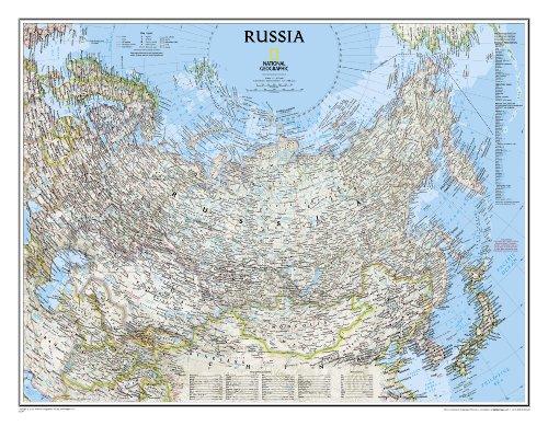 Russland-karte (Russland politisch: 1:12617000 (National Geographic Reference Map))