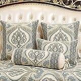 CUSHIONLIU Cojín de sofá para apoyarse en la almohada alfombra almohadas de espalda grandes contienen el almohadón almohada base de apoyo para apoyarse en la cabeza de una cama verde 50 * 50 cm base de la almohada
