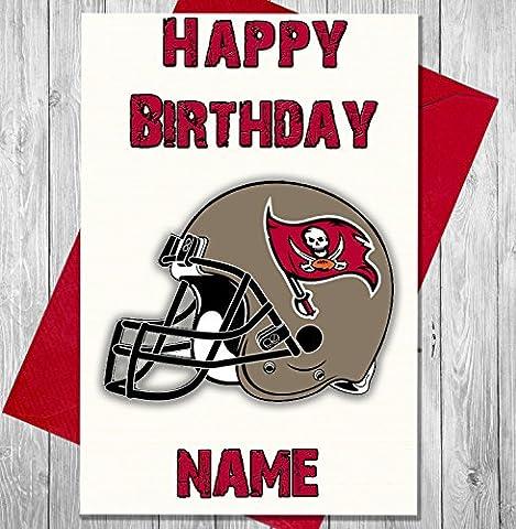 American Football Tampa Bay Buccaneers - Personalised Birthday Card -