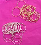 #6: Manav Company Jewellery Making Item Gold/Silver Round Loop Ring For Jewellery Making