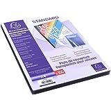 EXACOMPTA 42542E - Une Boite de 100 couvertures transparentes en PVC 21x29,7 cm couleur CRISTAL 20/100ème
