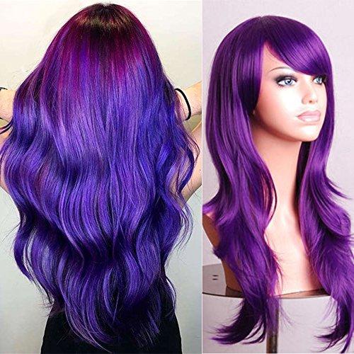 "Wig Cosplay Violet [ Garder Le Parfum Après Lavage] Effet Naturel (23""=58cm, 246g) [ Violet ]"