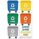 Haberdashery Online 5 Stickers Recyclage. Étiquettes Autocollants pour la Gestion des déchets. Chacun de 4,8 x 4,8 cm.