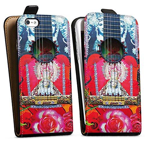 Apple iPhone X Silikon Hülle Case Schutzhülle Gitarre Rot Spanien Downflip Tasche schwarz