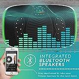 4D Vibrationsplatte – Leistungsstark mit 3 leisen Motoren | Leicht zu Bedienen | Magnetfeldtherapie Massage | Ultra Komfort – Curved Design | 4.0 Bluetooth Lautsprecher | Vibration Oszillation - 6