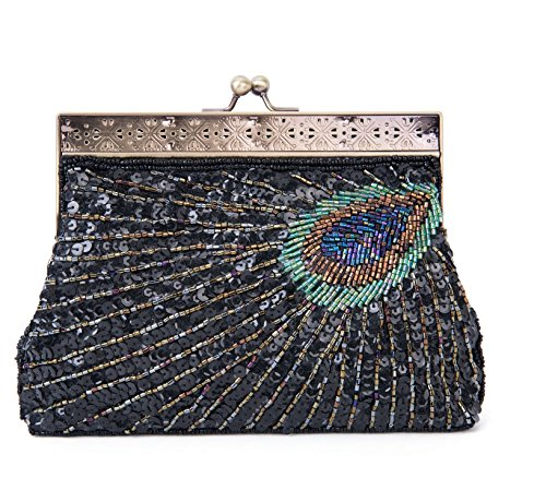 ba21e2f9da Fascetta Handmade dell'innamorato del pavone ha bordato la borsa del  sacchetto di cerimonia nuziale