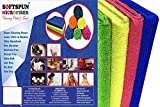 #10: SOFTSPUN MicroFiber Ultra Fast Drying, Car Dusting and Cleaning Towel Cloth - 20x30Cms - Set of 4 - Multicolor