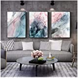 Hxjlmac 3Pcs Colorful Ink Canvas Poster Abstract Wall Painting Art Painting Posters And Prints Wall Pictures For Living Room