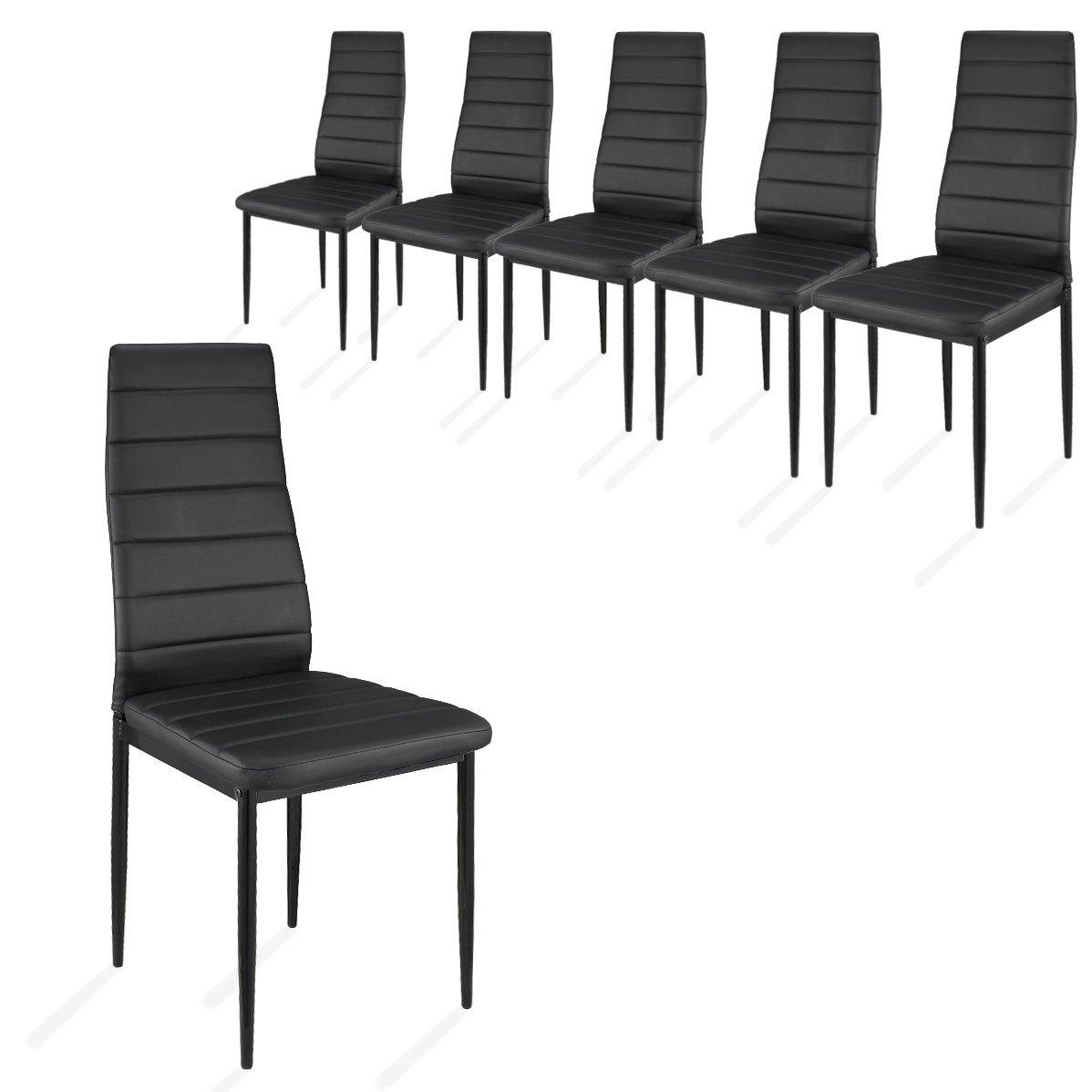 Schön 6 Stück Esszimmerstühle, Küchenstühle Mit Hochwertigem Kunstlederpolster    (Weiß): Amazon.de: Küche U0026 Haushalt