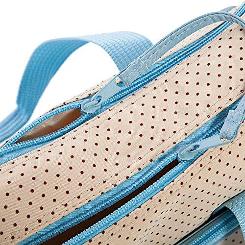 Multifunktional Dot Windel Wickeltasche Mama Handtasche Windel Pad Fläschchen Halterung Food Bag für Baby-5x azurblau