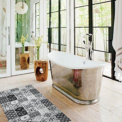 tapis-motifs-carreaux-de-ciment-noir-120x50cm-toodoo-monbeautapis-polyester-extra-doux