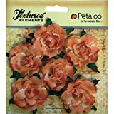 "Textured Elements Canvas Rosettes 1.5"""" 6/Pkg-Peach"