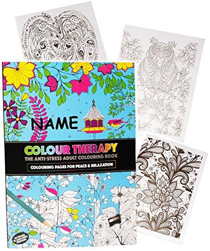 alles-meine.de GmbH 3 Stück _ A4 - Großes Malbücher -  Colour Therapy  - Incl. Name - 64 Seiten ..
