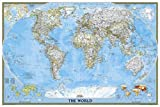 World Classic Poster Size Map: Wall Maps World (National Geographic Reference Map)