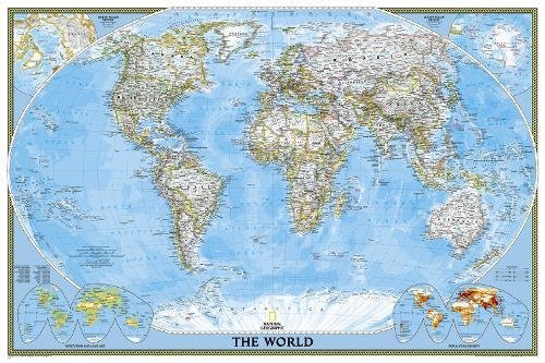 World Classic, Poster Size, Tubed: Wall Maps World (National Geographic Reference Map) por National Geographic Maps